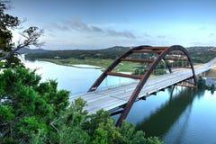 Puente en Austin, Tejas del hierro imagen de archivo
