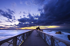 Puente en Biarritz foto de archivo