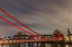 Puente en centro de ciudad de Glasgow Construido en 1853 imágenes de archivo libres de regalías