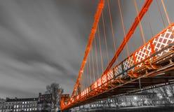 Puente en centro de ciudad de Glasgow Construido en 1853 imagen de archivo