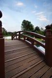 Puente en Chicago - jardines japoneses Imágenes de archivo libres de regalías