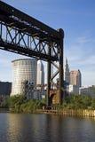 Puente en Cleveland Fotos de archivo