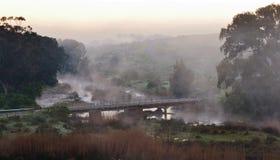 Puente en el amanecer Foto de archivo