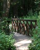 Puente en el bosque Foto de archivo libre de regalías