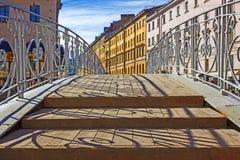 Puente en el canal de Griboedov en St Petersburg foto de archivo libre de regalías