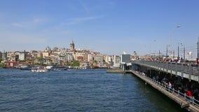 Puente en el cuerno de oro, Estambul, Turquía de Galata