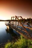 puente en el lago Fotografía de archivo