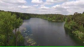 Puente en el lago almacen de metraje de vídeo