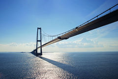 Puente en el mar imagen de archivo libre de regalías