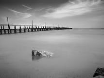 Puente en el mar Fotografía de archivo