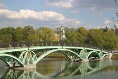 Puente en el parque de Tsaritsino Fotografía de archivo