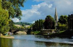 Puente en el río Avon en baño Imagen de archivo libre de regalías