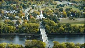 Puente en el río Connecticut en Sunderland Foto de archivo libre de regalías