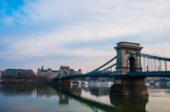 Puente en el río Danubio Fotografía de archivo libre de regalías