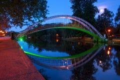 Puente en el río gran Ouse en Bedford, Inglaterra Fotografía de archivo