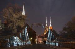 Puente en el wroclaw Fotos de archivo