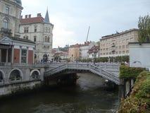 Puente en Eslovenia Foto de archivo