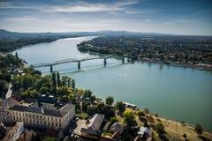 Puente en Esztergom Imagen de archivo libre de regalías