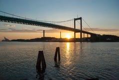 Puente en Göteborg Suecia imagenes de archivo