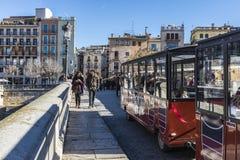Puente en Girona, España Imágenes de archivo libres de regalías