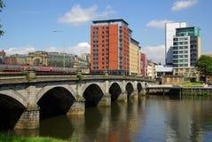 Puente en Glasgow, Escocia Foto de archivo