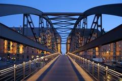 Puente en Hamburgo, Alemania Imagen de archivo libre de regalías