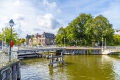 Puente en Harlingen, Países Bajos Imagen de archivo