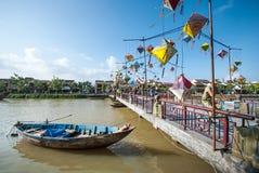 Puente en Hoi An, ciudad antigua de Vietnam Imágenes de archivo libres de regalías