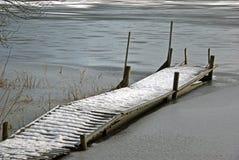 Puente en invierno Fotos de archivo