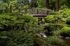 Puente en jardín japonés Imagen de archivo