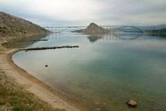 Puente en Krk Fotos de archivo