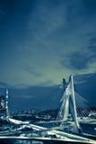 Puente en la ciudad de Sao Paulo Imagen de archivo libre de regalías