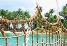 Puente en la isla tropical Fotografía de archivo libre de regalías