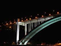 Puente en la noche Imagen de archivo libre de regalías