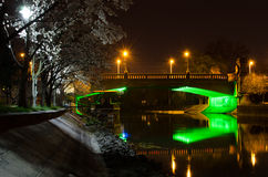 Puente en la noche Imagenes de archivo