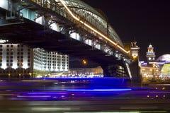 Puente en la noche, Moscú de Bogdan Khmelnitsky Fotos de archivo libres de regalías