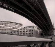 Puente en Lausanne imagenes de archivo