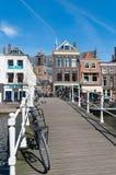 Puente en Leiden, Países Bajos Fotografía de archivo libre de regalías