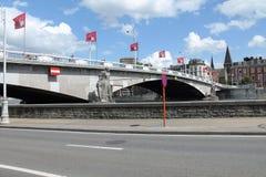 Puente en Lieja Fotos de archivo libres de regalías