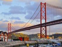 Puente en Lisboa Fotografía de archivo