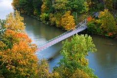 Puente en maderas del otoño Fotos de archivo libres de regalías