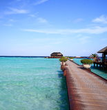 Puente en maldives Imagenes de archivo
