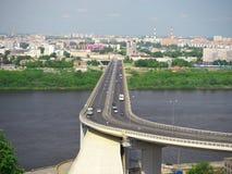 Puente en Nizhny Novgorod Imagen de archivo libre de regalías