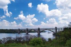 Puente en nubes Imagen de archivo libre de regalías