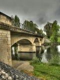Puente en Parcoul Fotografía de archivo
