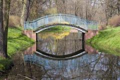 Puente en parque Foto de archivo