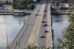Puente en Praga Foto de archivo libre de regalías