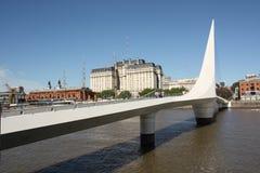 Puente en Puerto Madero, la Argentina Fotografía de archivo libre de regalías