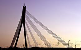 Puente en Riga Imagen de archivo libre de regalías
