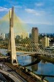 Puente en Sao Paulo Foto de archivo